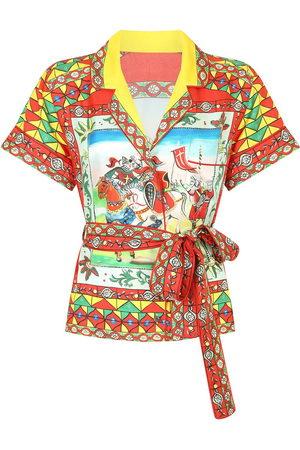 Dolce & Gabbana Graphic-print belted shirt