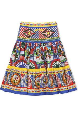 Dolce & Gabbana Mixed-print skirt