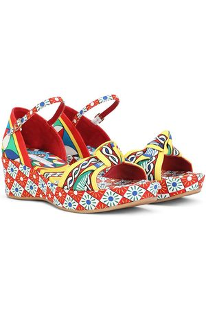 Dolce & Gabbana Multi-print platform sandals