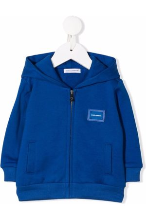 Dolce & Gabbana Kids Logo-patch cotton jacket