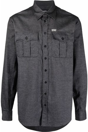 Dsquared2 Men Long Sleeve - Twill button front shirt