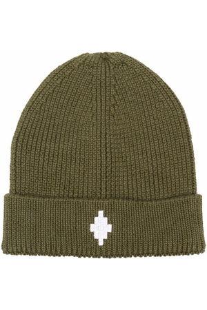 MARCELO BURLON Boys Hats - Logo-embroidered ribbed-knit hat