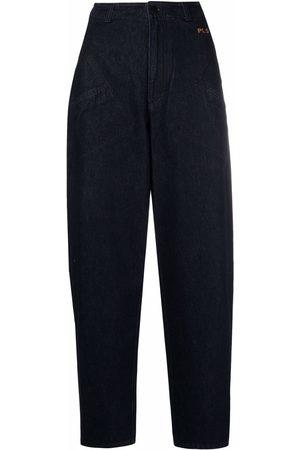 Serafini High-rise tapered jeans