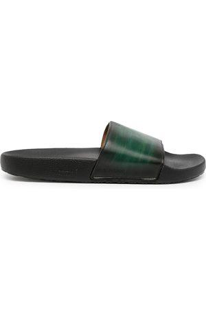 Magnanni Brushed-effect leather slides