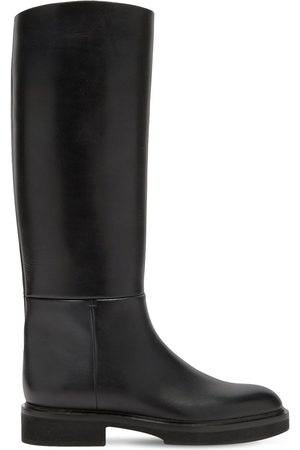 Khaite 30mm Derby Leather Tall Boots