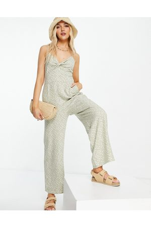 Abercrombie & Fitch Halter neck jumpsuit in print
