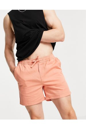 JACK & JONES Intelligence chino short with drawstring in coral