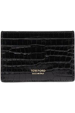 Tom Ford Men Wallets - Crocodile-effect cardholder