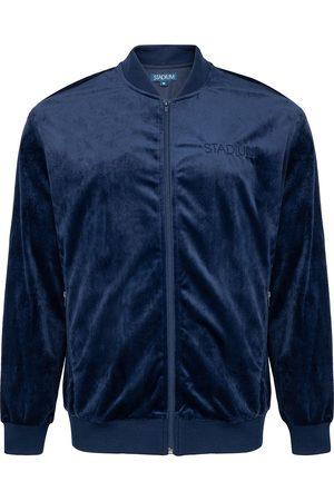 Stadium Goods Logo-embroidered velour track jacket
