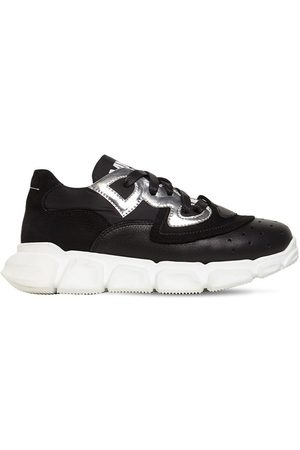 MM6 MAISON MARGIELA Leather Blend Lace-up Sneakers