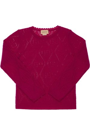 Gucci Gg Perforated Wool Knit Sweater