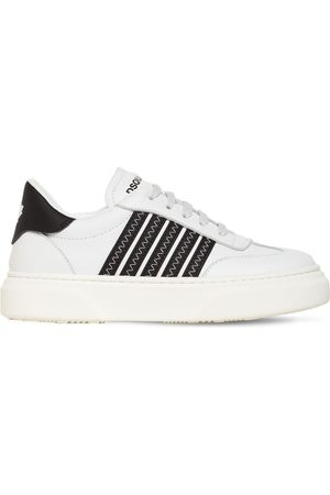 Dsquared2 Leather Lace-up Sneakers