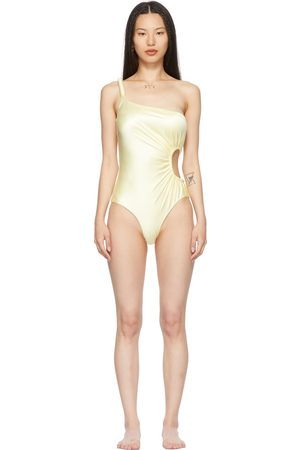 ISA BOULDER SSENSE Exclusive Yellow Ray One-Piece Swimsuit