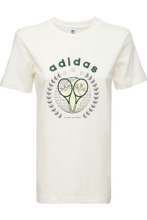 adidas Printed & Embroidered Cotton T-shirt