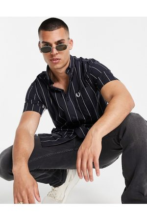 Fred Perry Fine stripe short sleeve shirt in