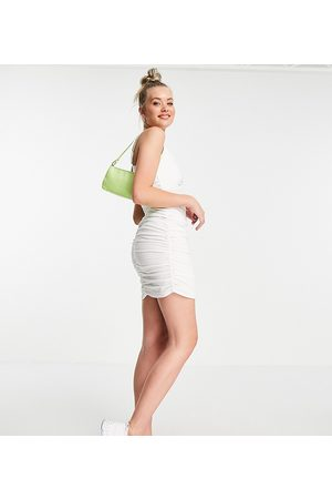 Missguided Ruched side cami dress in cream