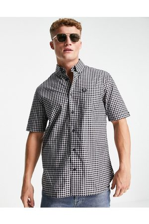 Fred Perry Short sleeve gingham shirt in and white