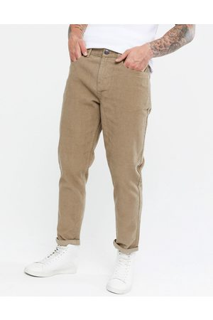 New Look Tapered cord trousers in tan