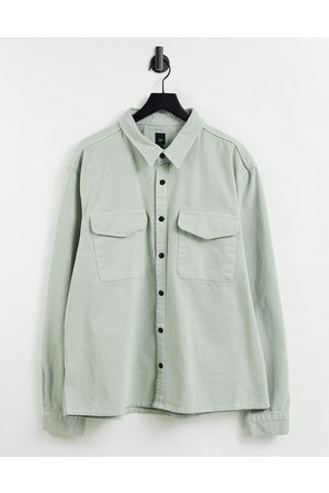 River Island B&T long sleeved overshirt in