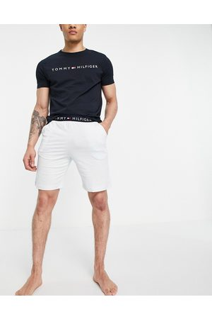 Tommy Hilfiger Lounge set t-shirt and short with chest logo in blue