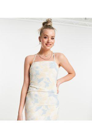 Missguided Slip dress in cloud print