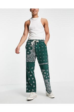 Jaded London Co-ord cut and sew paisley joggers in