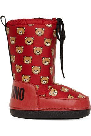 Moschino All Over Teddy Bear Nylon Snow Boots