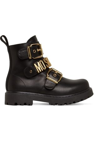 Moschino Girls Boots - Logo Leather Boots