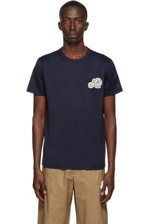 Moncler Navy Chest Logo T-Shirt