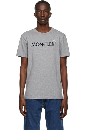 Moncler Grey Lettering Graphic T-Shirt