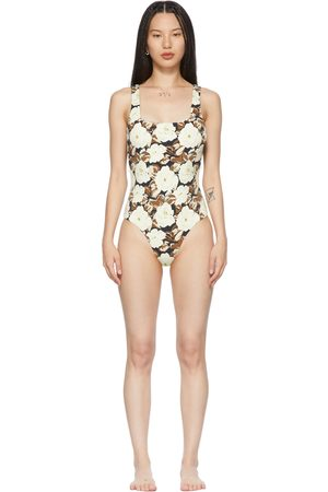 SIR. Off-White Carlo Square One-Piece Swimsuit