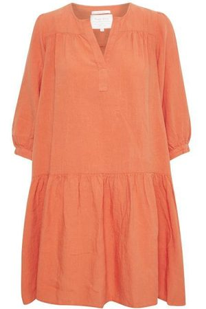 Part Two Chanias Linen Dress in Ginger