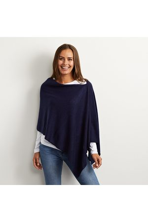 Cove Lucy navy cashmere poncho