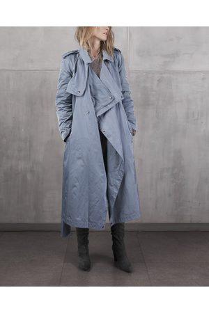 Kristar Design Women Trench Coats - KristarDesign - Steel transeasonal trench coat Anna French