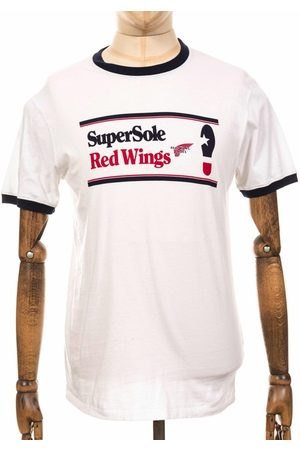 Red Wing Men T-shirts - 95079 Supersole Ringer Tee - /Blue Size: Small, Colour: