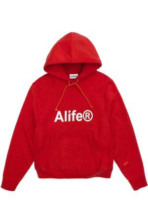 alife kickin Generic logo half-zip hoodie