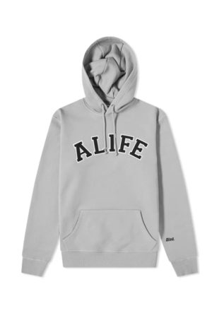 alife kickin Collegiate hoodie heather grey