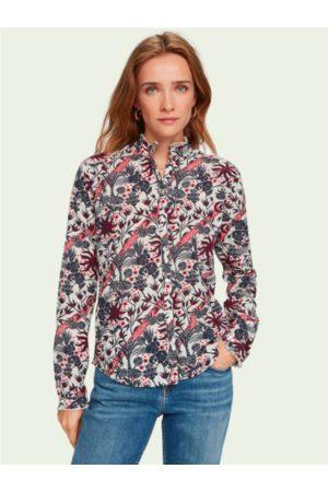 Scotch&Soda Women Long Sleeve - Long sleeve cotton print shirt