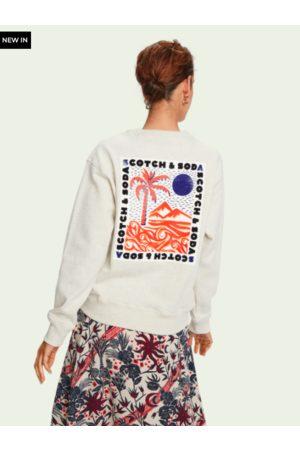 Paradise Long sleeve sustainable cotton artwork sweatshirt