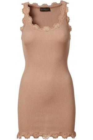 Rosemunde Silk Vest With Wide Lace Trim