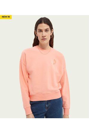 Scotch and Soda Women Sweatshirts - Scotch & Soda Relaxed Fit Organic Cotton Sweatshirt