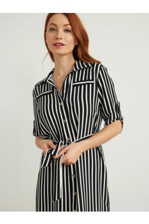 Joseph Ribkoff Women Casual Dresses - Striped Shirt Maxi Dress 212162