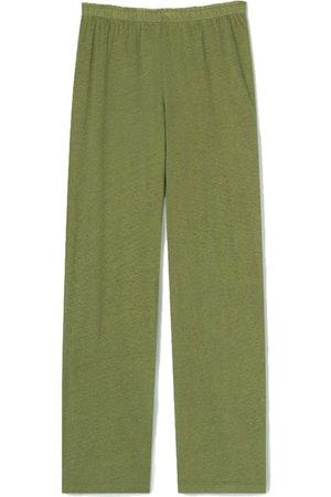 American Vintage Lolosister Linen Trousers - Olive Tree