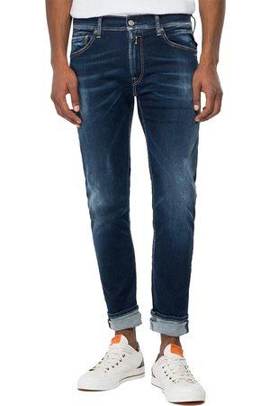 Replay Hyperflex Re-Used XLite Anbass Slim Fit Jeans - Dark
