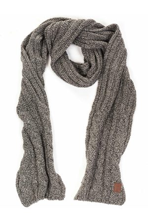 Barts Twister Cable Scarf - Grey
