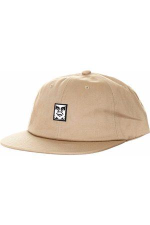 Obey Clothing Icon Face 6 Panel Hat - Light Khaki Colour: Light Khaki