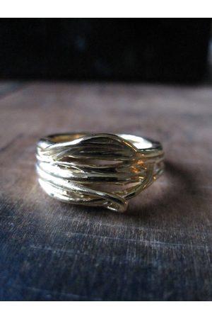 Collard Manson Gold Plated Birds Nest 925 ring