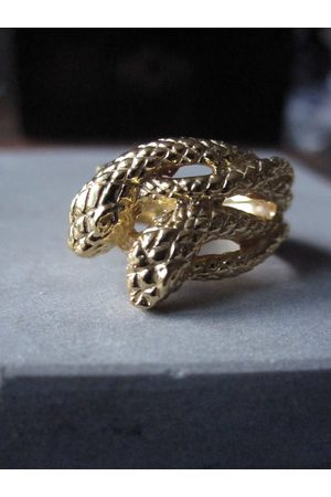 WINDOW DRESSING THE SOUL Men Rings - Gold Plated Double snake ring