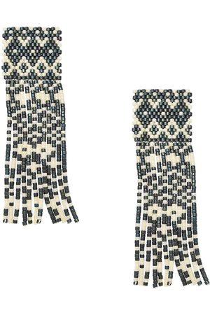 Mishky Alhambra Beaded Earrings - & Cream