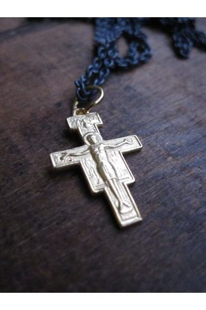 WINDOW DRESSING THE SOUL WDTS plated 925 Silver cross with Jesus necklace